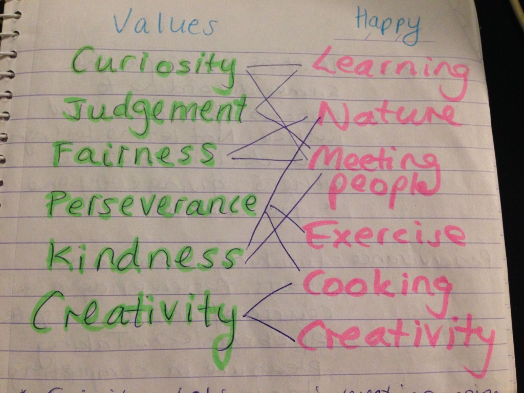 Values and happiness